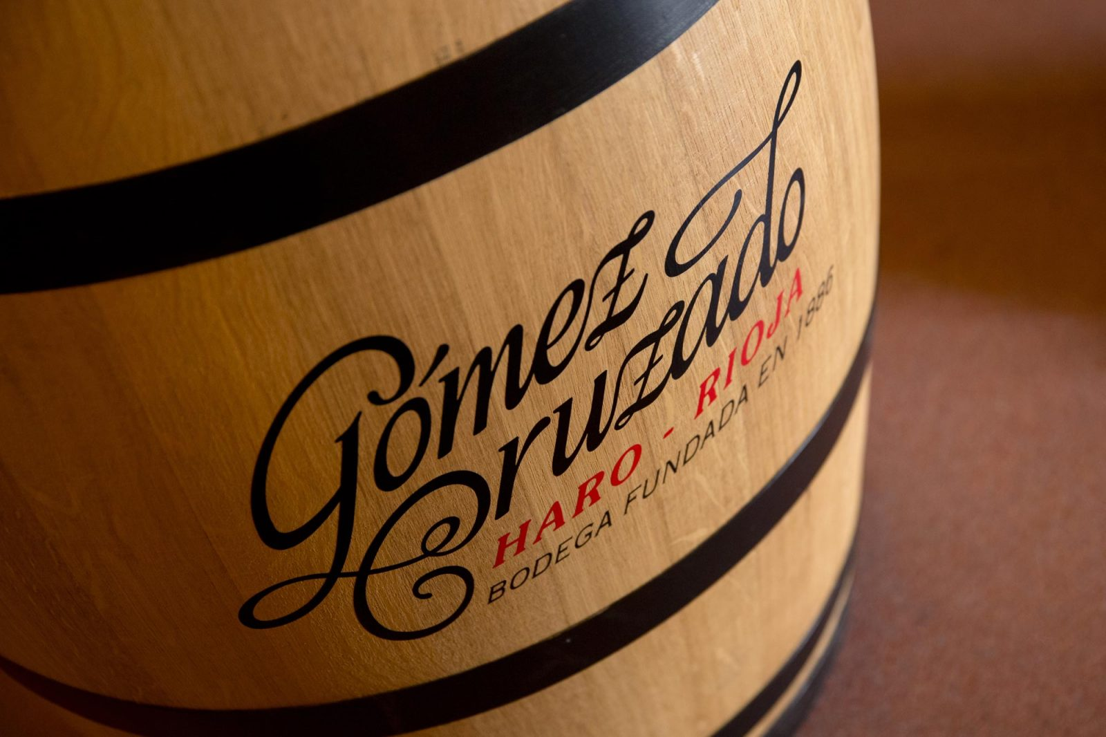 Barrica de Gómez Cruzado Bodega de Rioja Haro