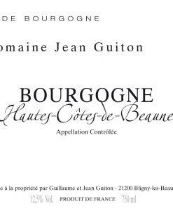 Domaine Jean Guiton Bourgogne Blanc Hautes Côtes de Beaune